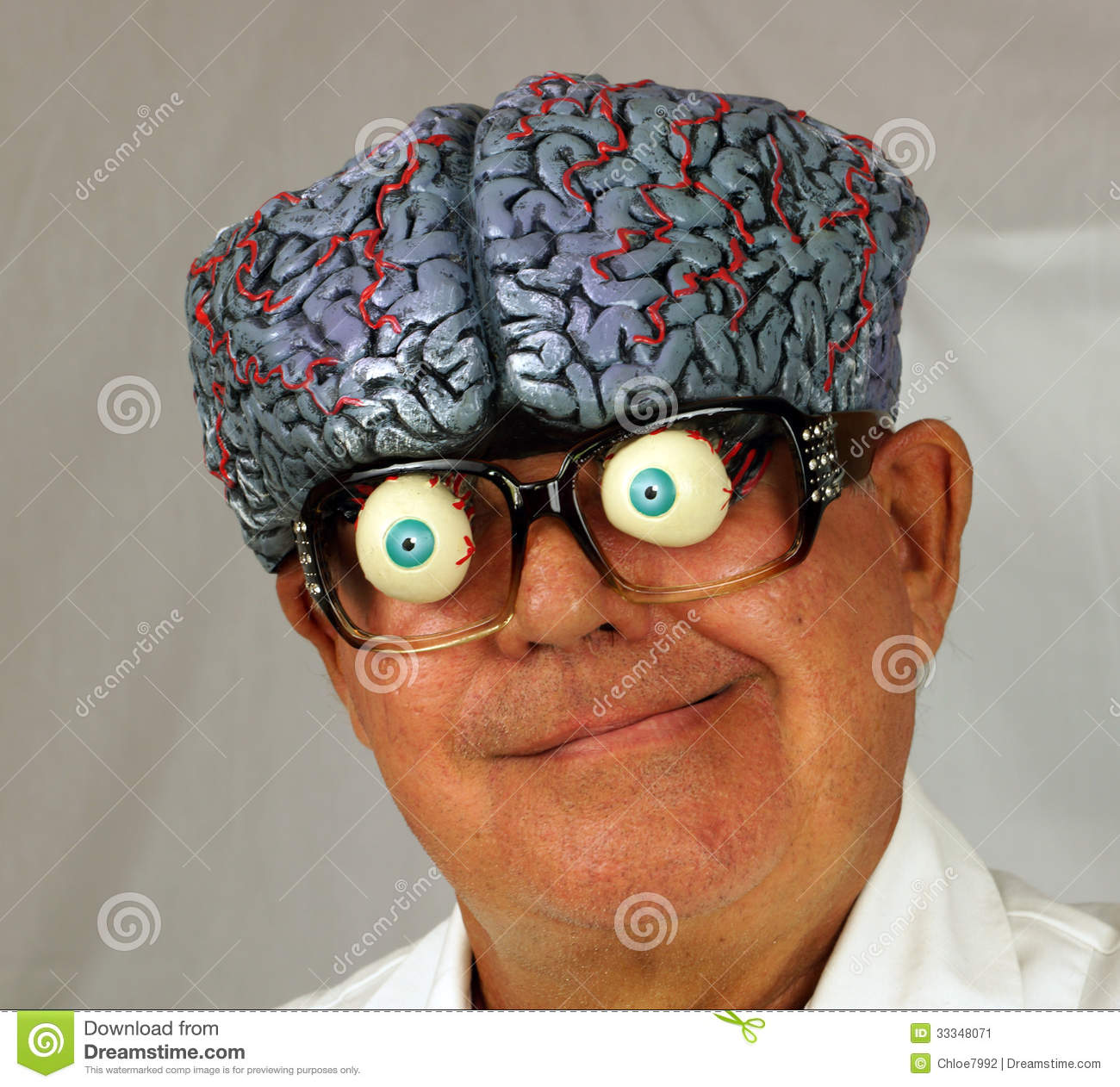 Mad Scientist stock image. Image of costume, science ...