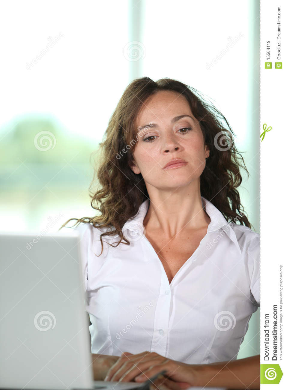 Mad Woman At Work Royalty Free Stock Images Image 15564119
