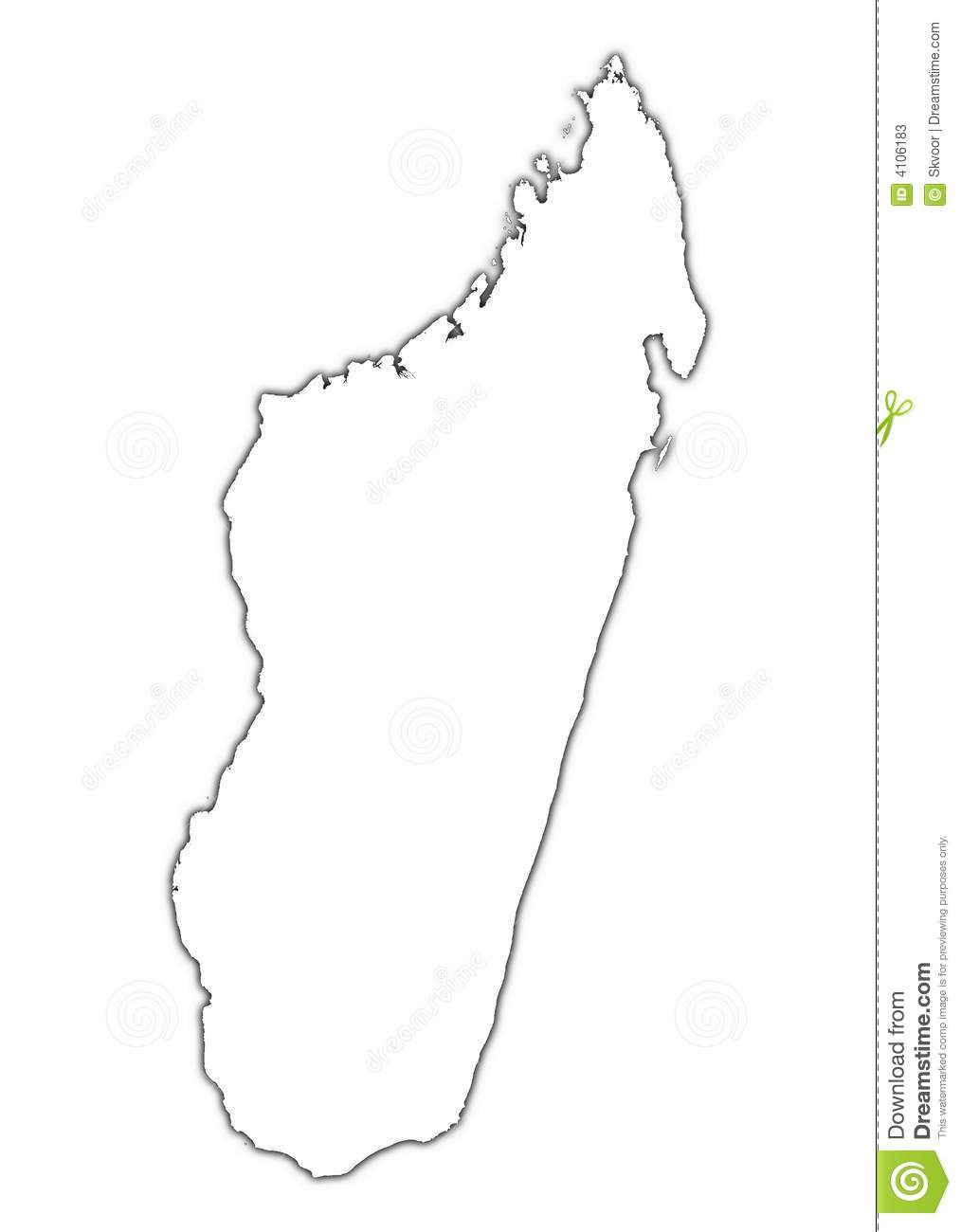 Madagascar Map With Shadow Stock Illustration Image Of Boundaries - Madagascar map outline