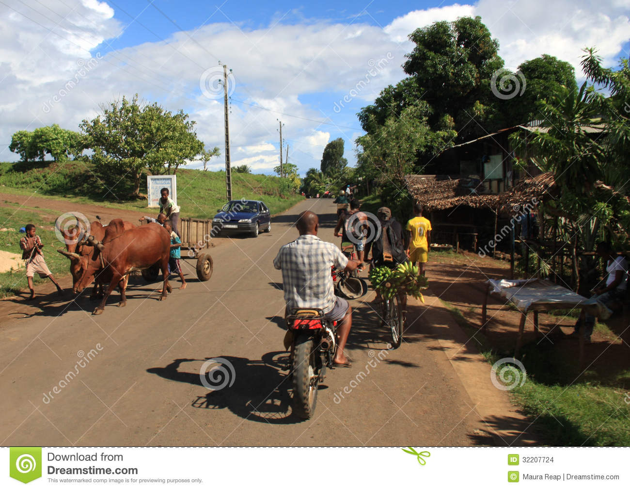 Traffic jam on an african street editorial photo cartoondealer com 27076715
