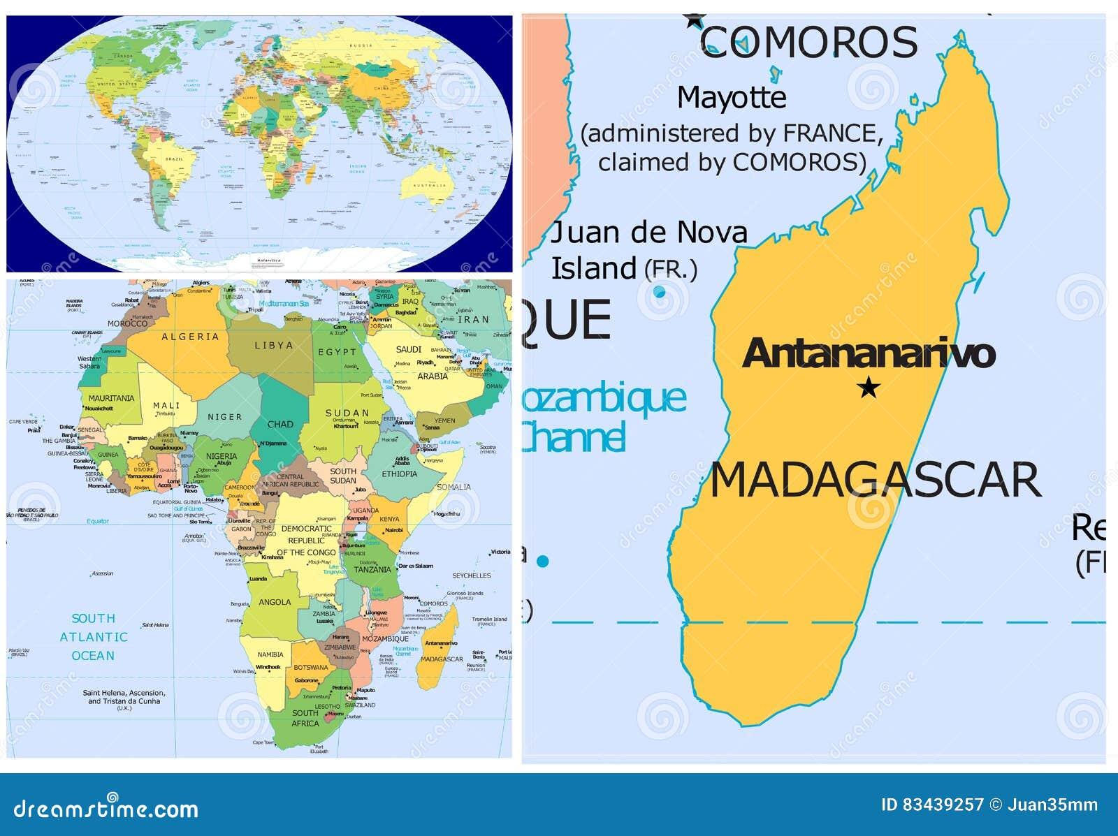Madagascar & World stock illustration. Illustration of congo - 83439257
