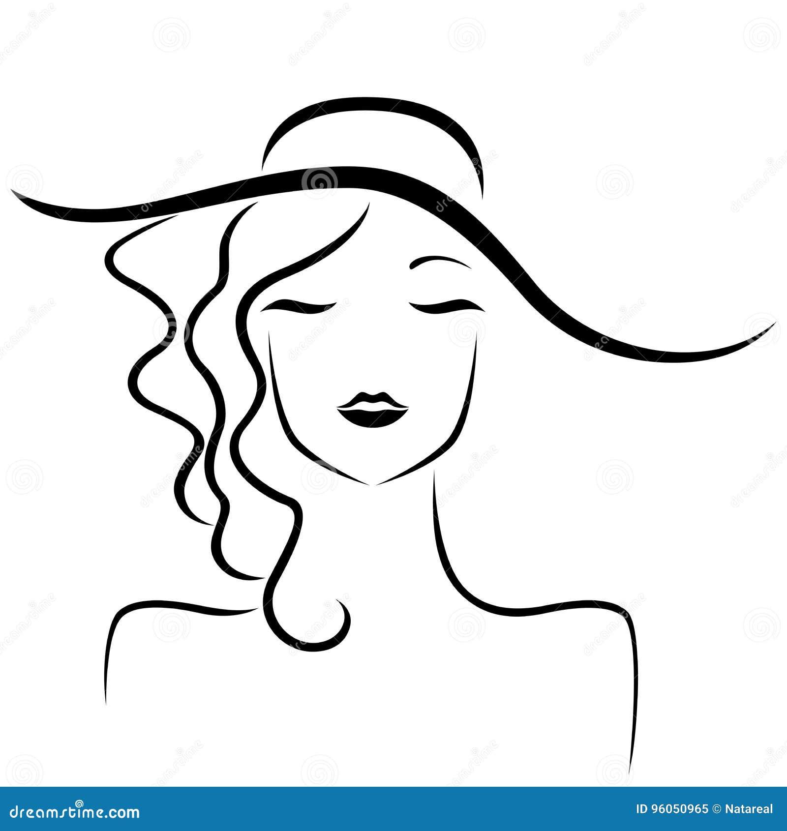 Madame en portrait stylisé de chapeau