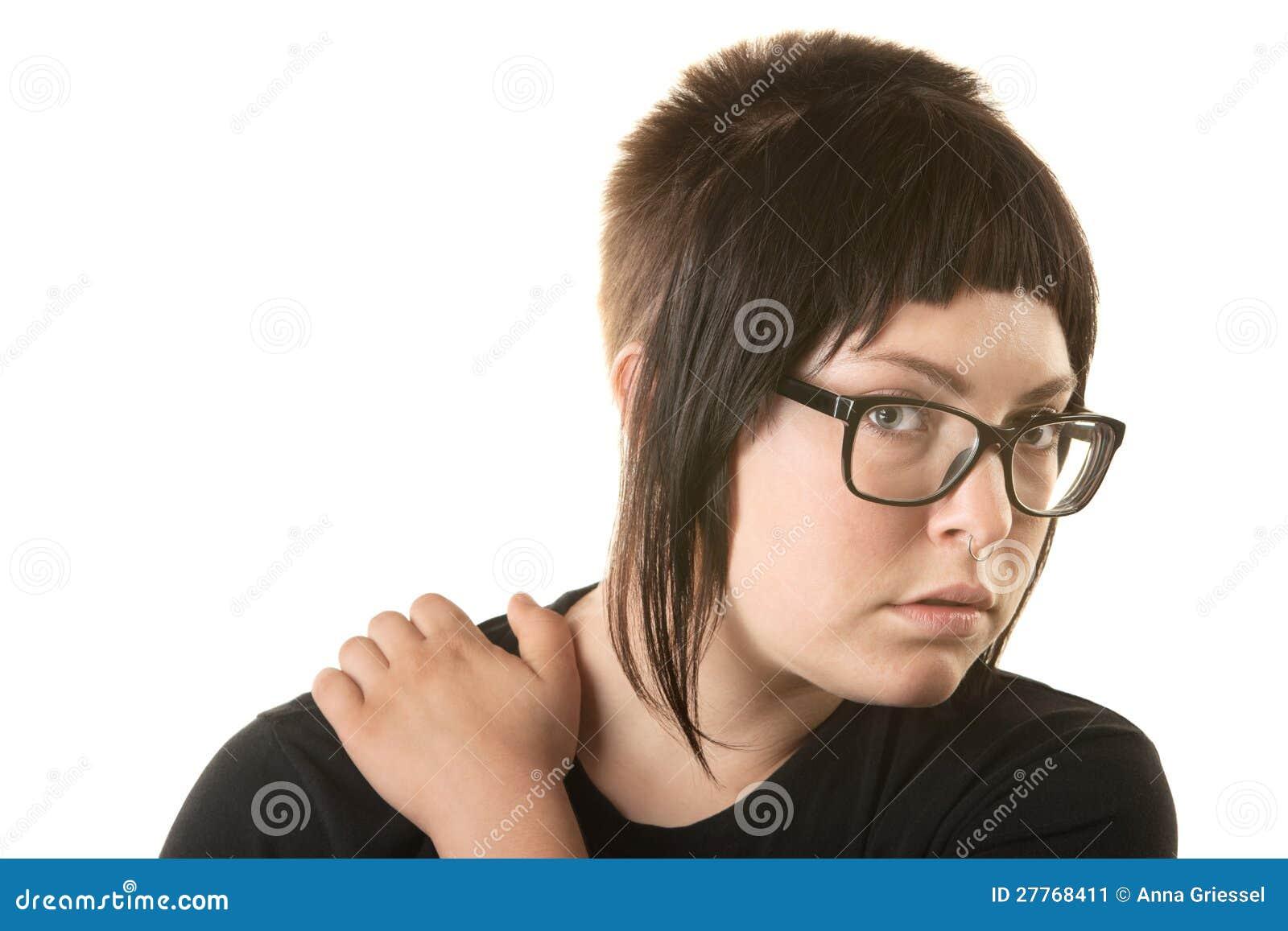 Madame Holding Her Shoulder