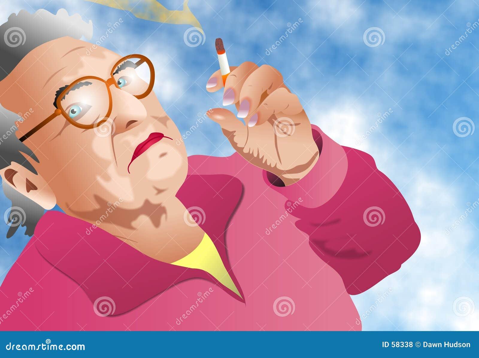 Madame Smoking