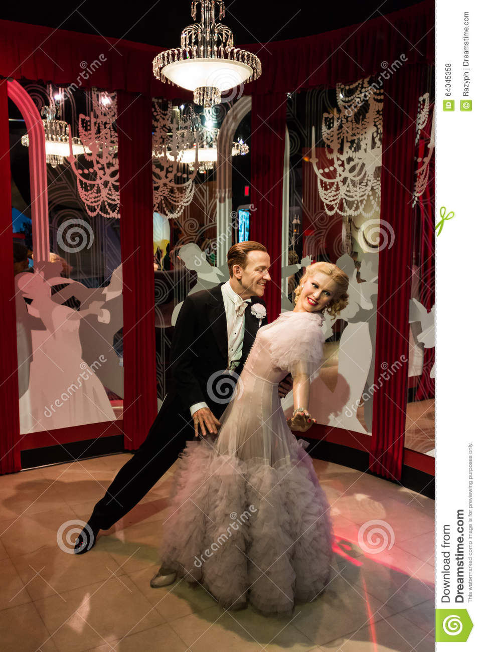 Madame Tussauds Fred Astaire And Ginger Rogers Editorial