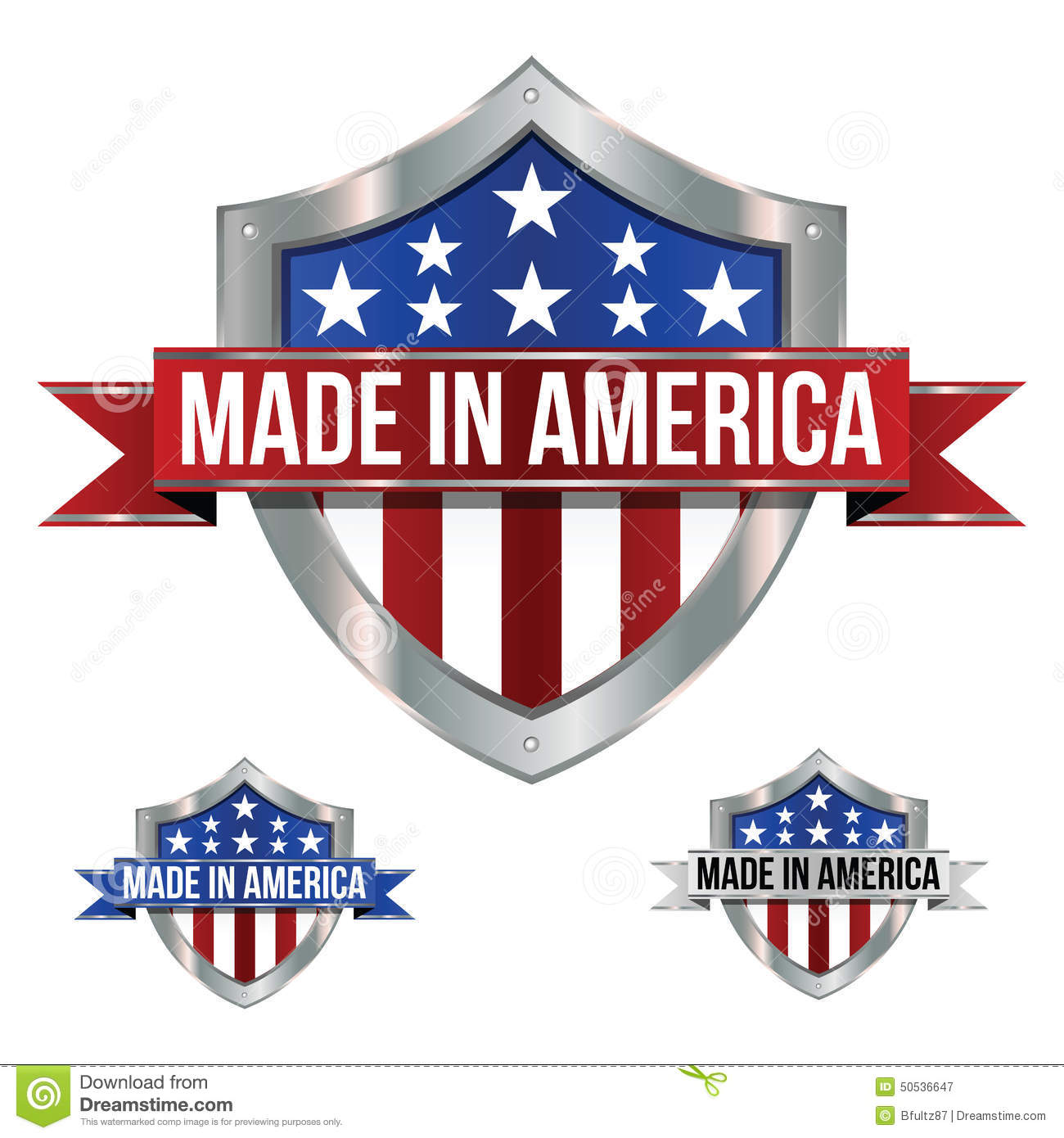 made in america icons stock vector image of states made 50536647. Black Bedroom Furniture Sets. Home Design Ideas