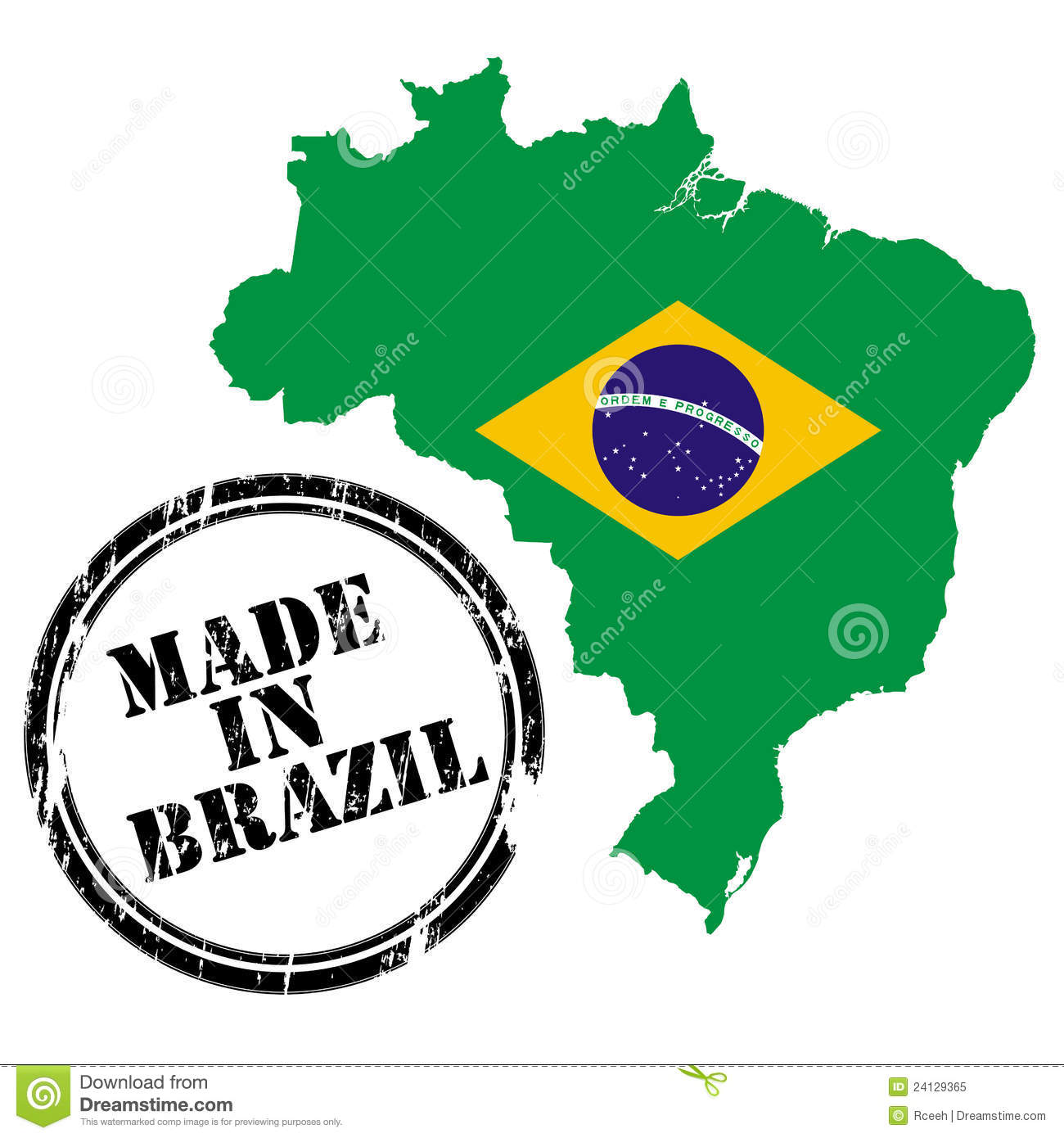 Made In Brazil Royalty Free Stock Photo - Image: 24129365