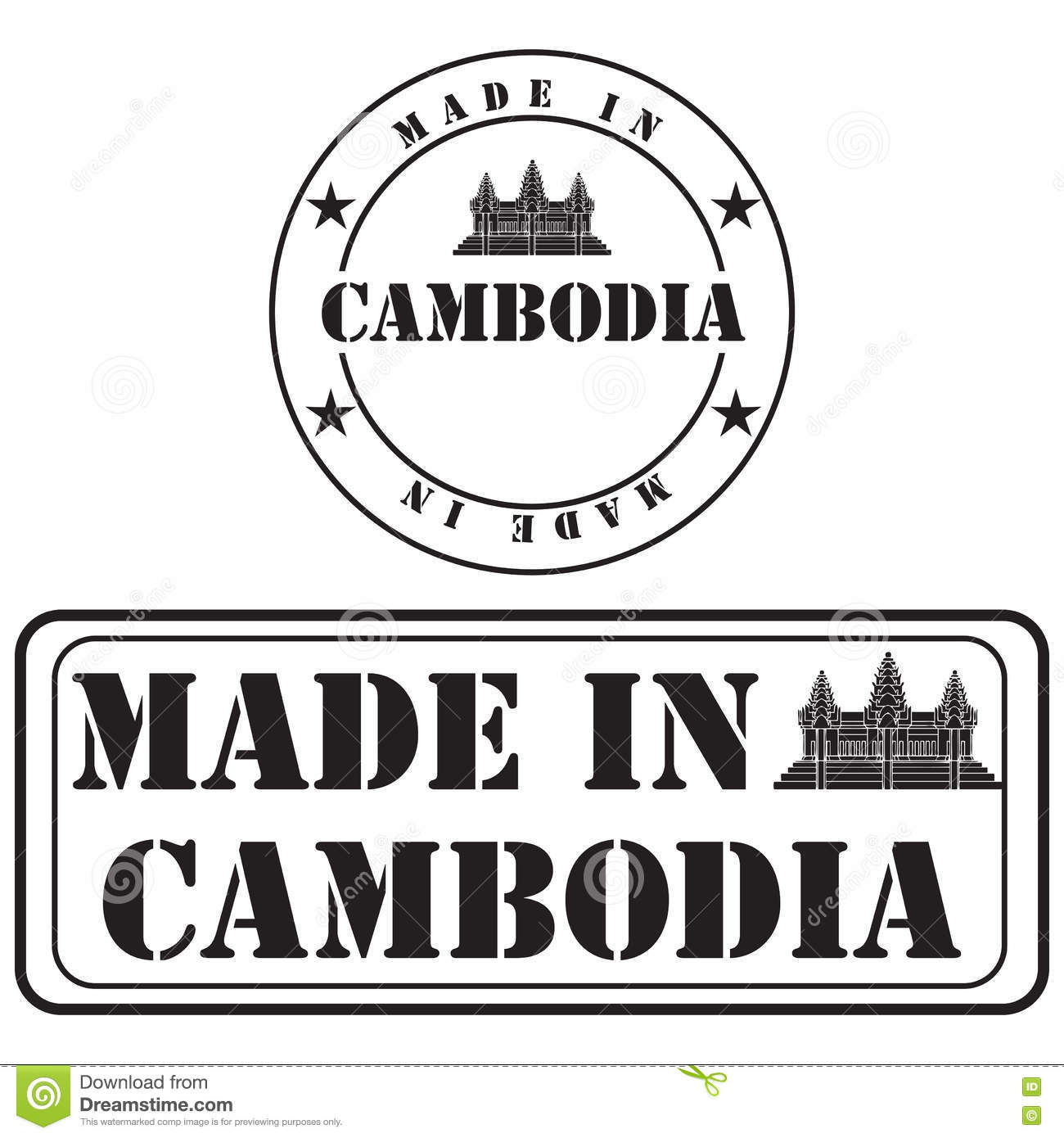 Made In Cambodia For Product Labeling Stock Vector - Illustration of
