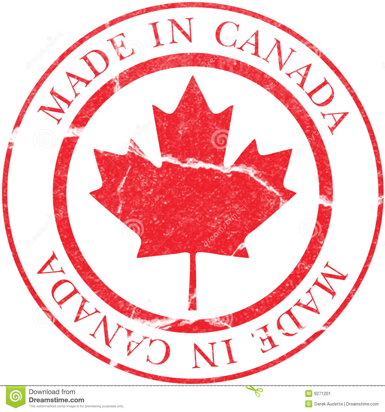 Made In Canada Decal Stock Image Image 9271201