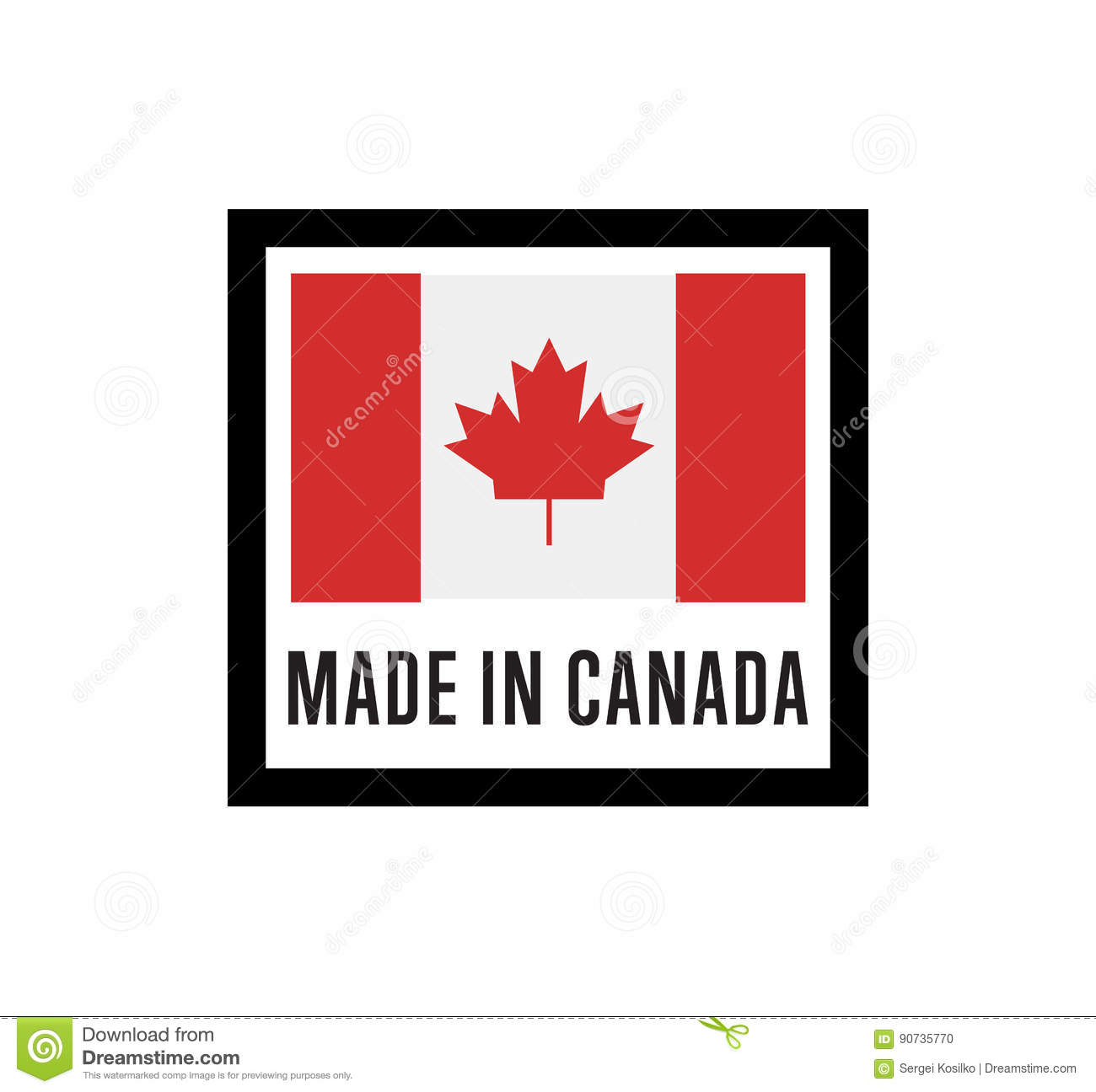 ee20dccf8a8 Made In Canada Isolated Vector Label For Products Stock Vector ...