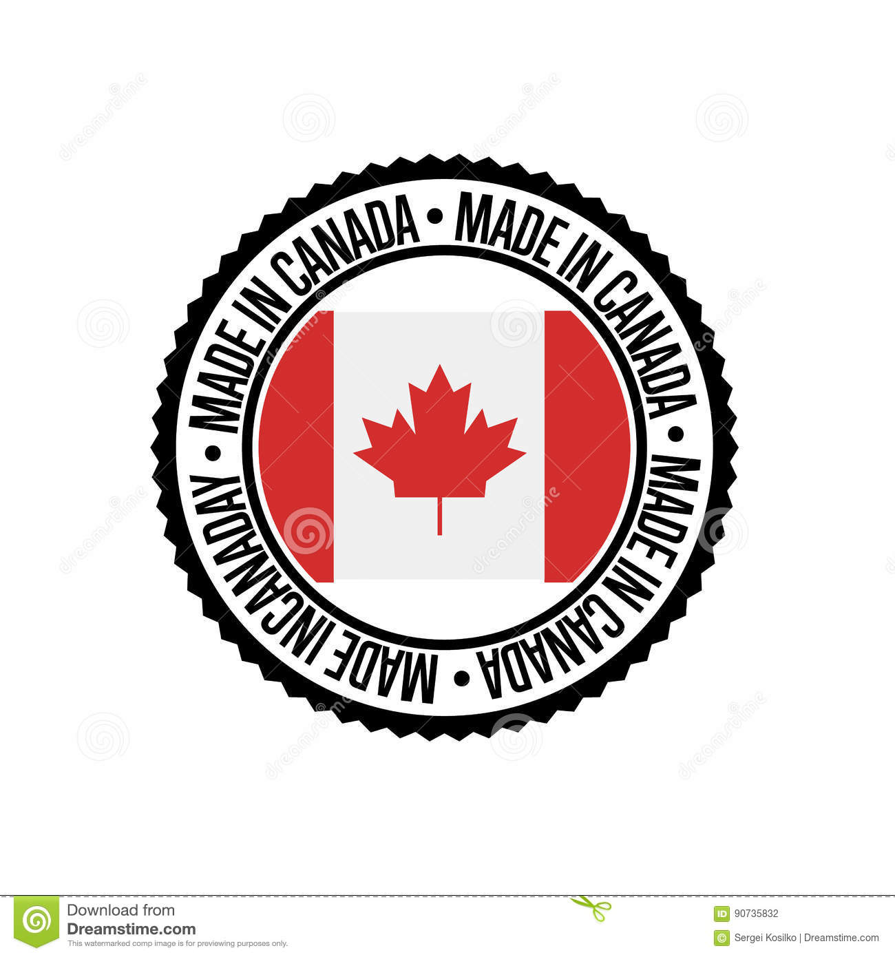 94ecea025e2 Made In Canada Round Rubber Stamp For Products Stock Vector ...