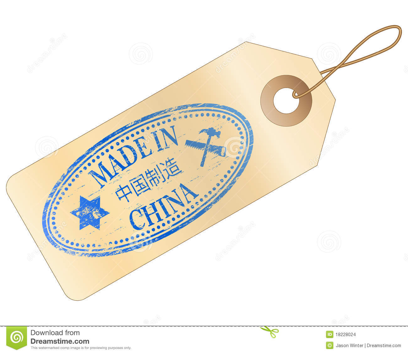 Made In China Tag Stock Images - Image: 18228024