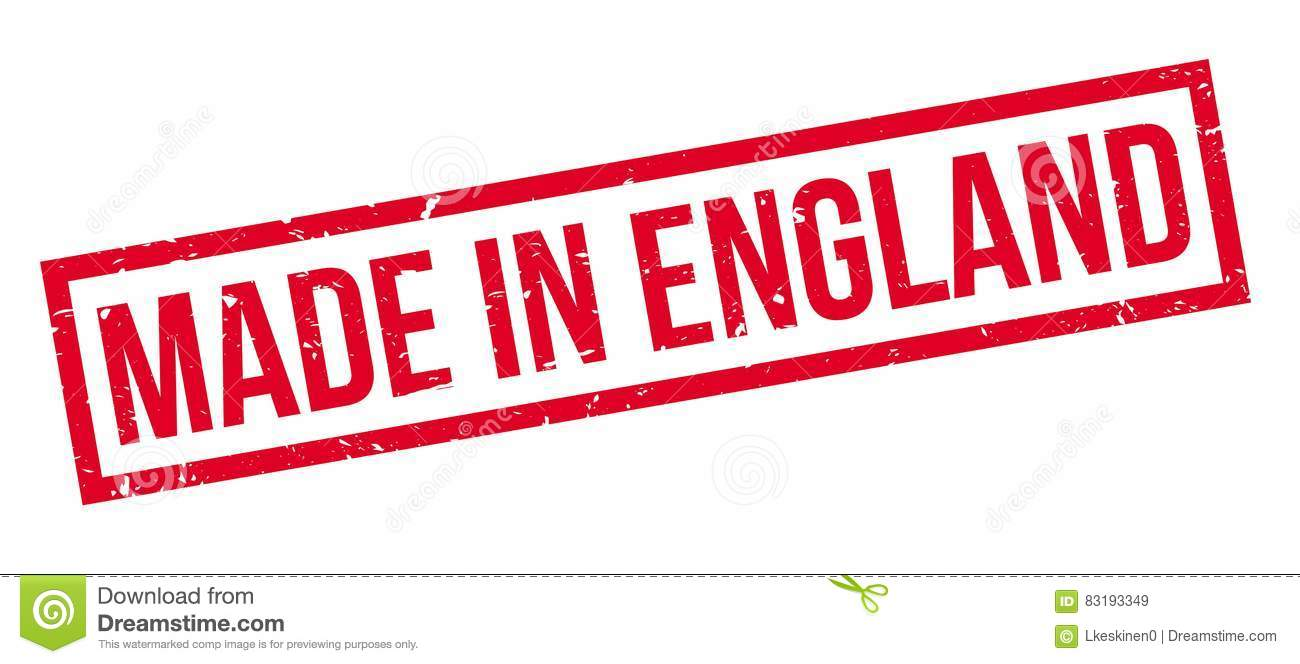 Download Made In England Rubber Stamp Stock Illustration