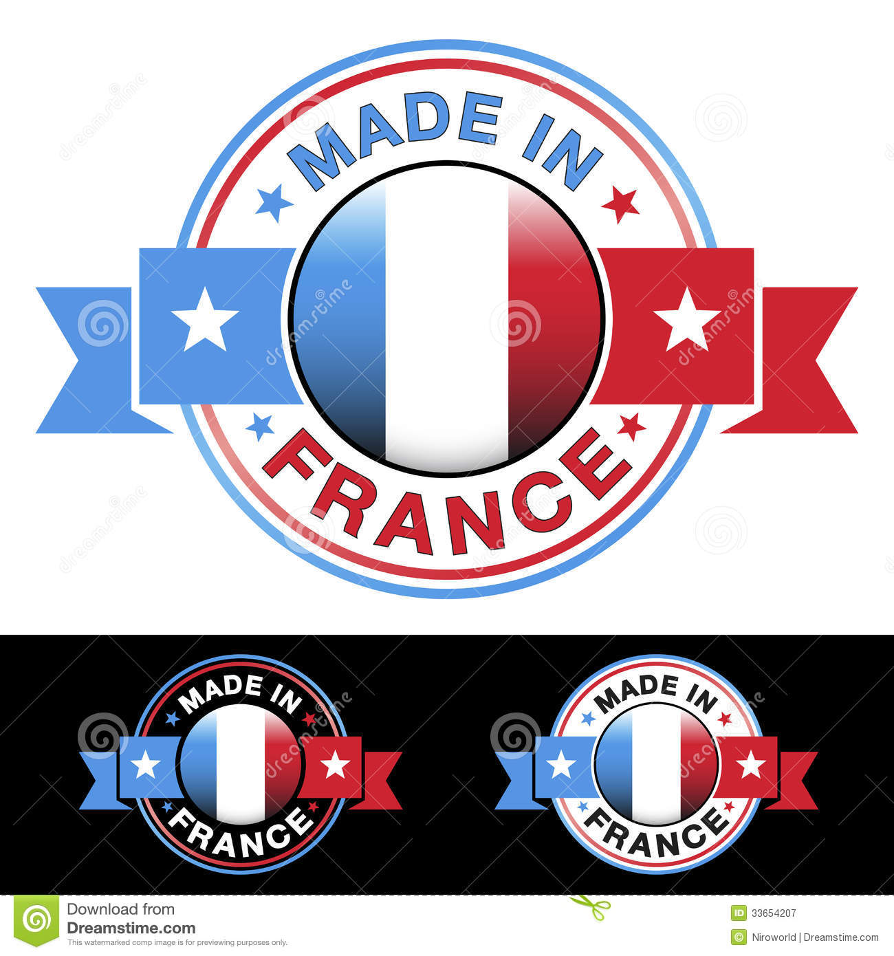 made in france badge royalty free stock photography image 33654207. Black Bedroom Furniture Sets. Home Design Ideas