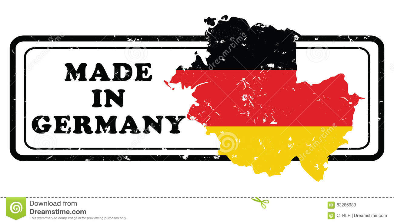 photograph regarding Printable German Flag referred to as Created Inside of Germany - Grunge Printable Stamp Inventory Vector