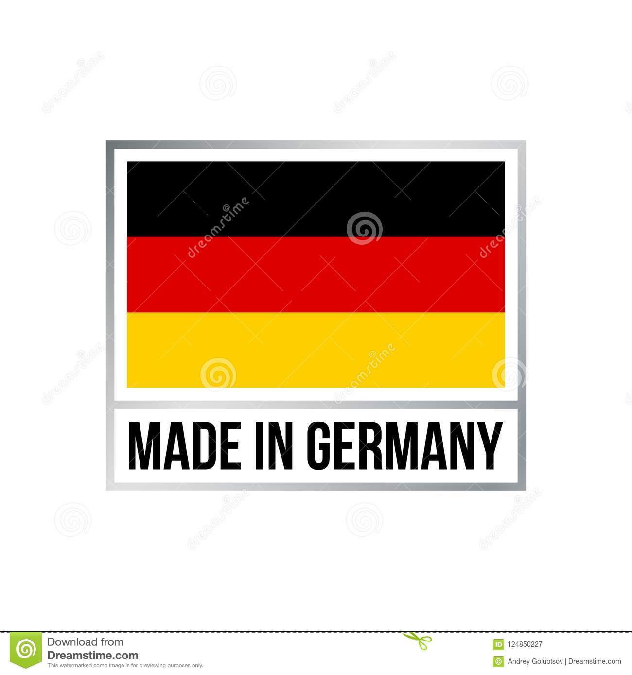 Made In Germany Icon With German Flag Stock Vector Illustration Of