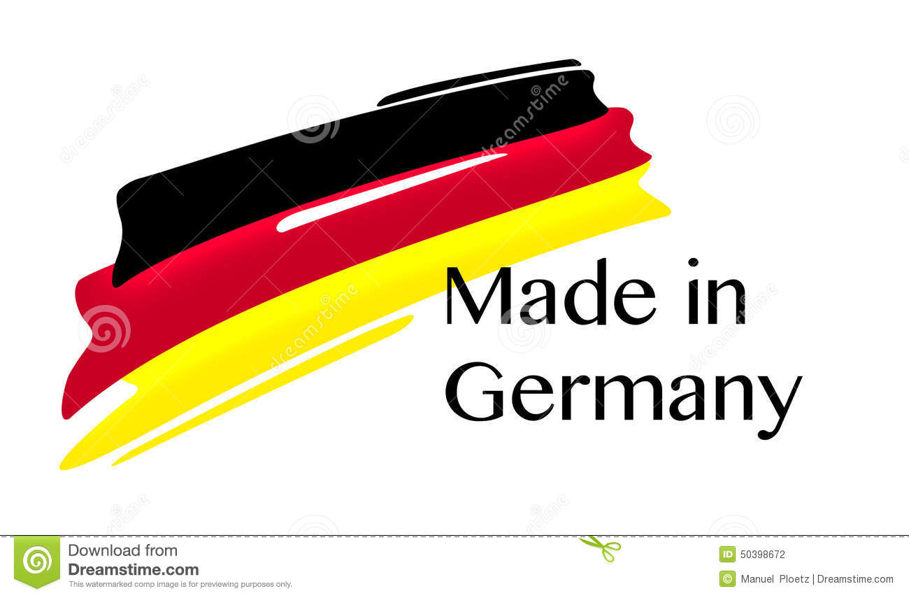 Made In Germany Label With German Flag Stock Illustration - Image ...