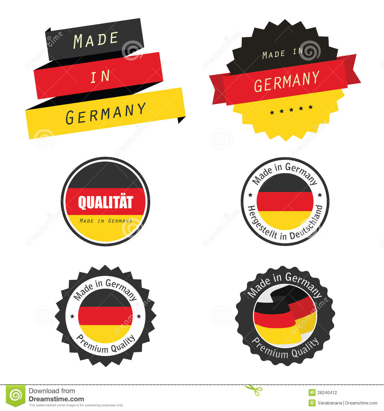 made in germany labels badges and stickers stock photography image 28240412