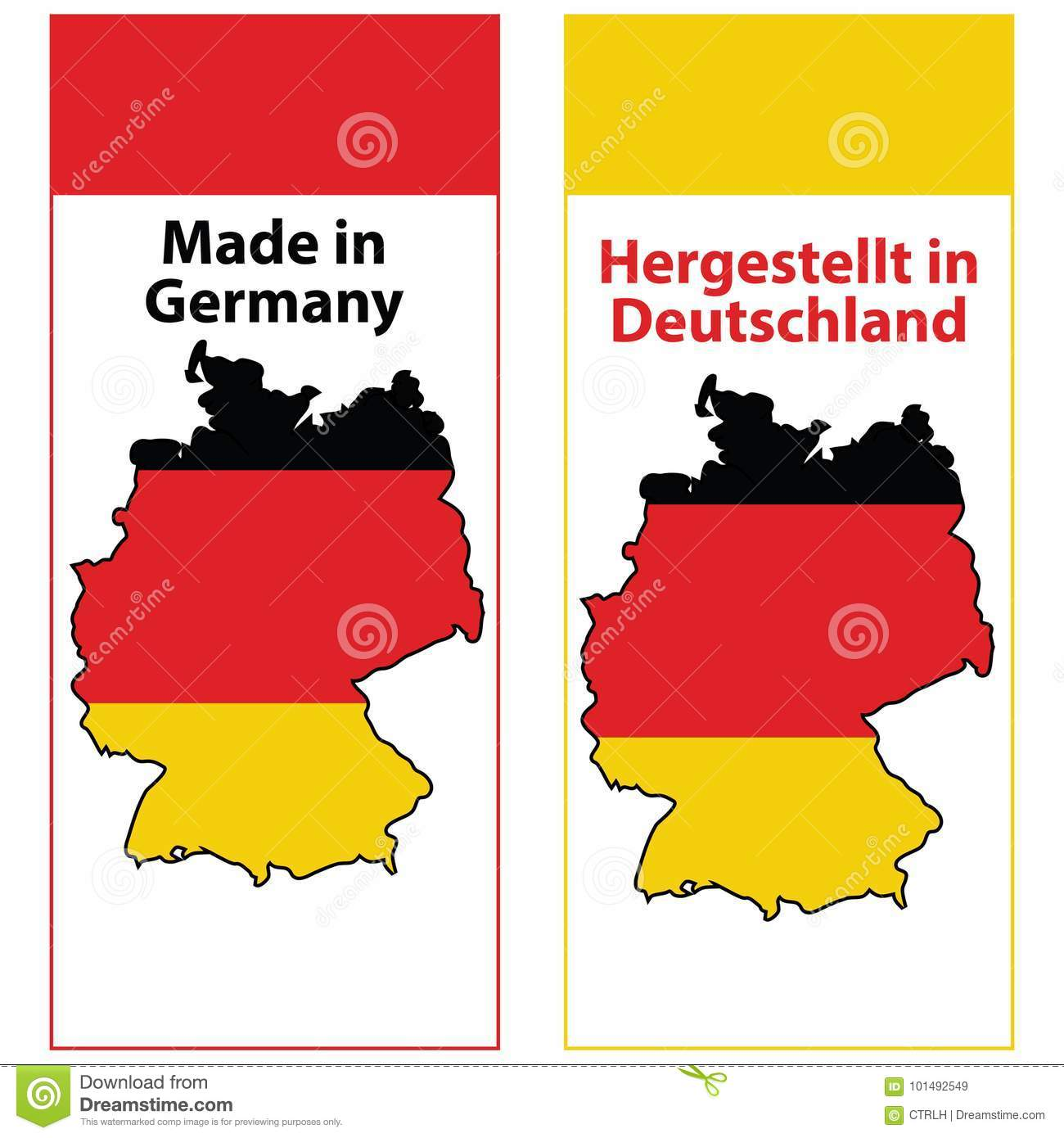 picture about Stamp Printable referred to as Generated Within just Germany, Printable Sticker Fastened Inventory Instance