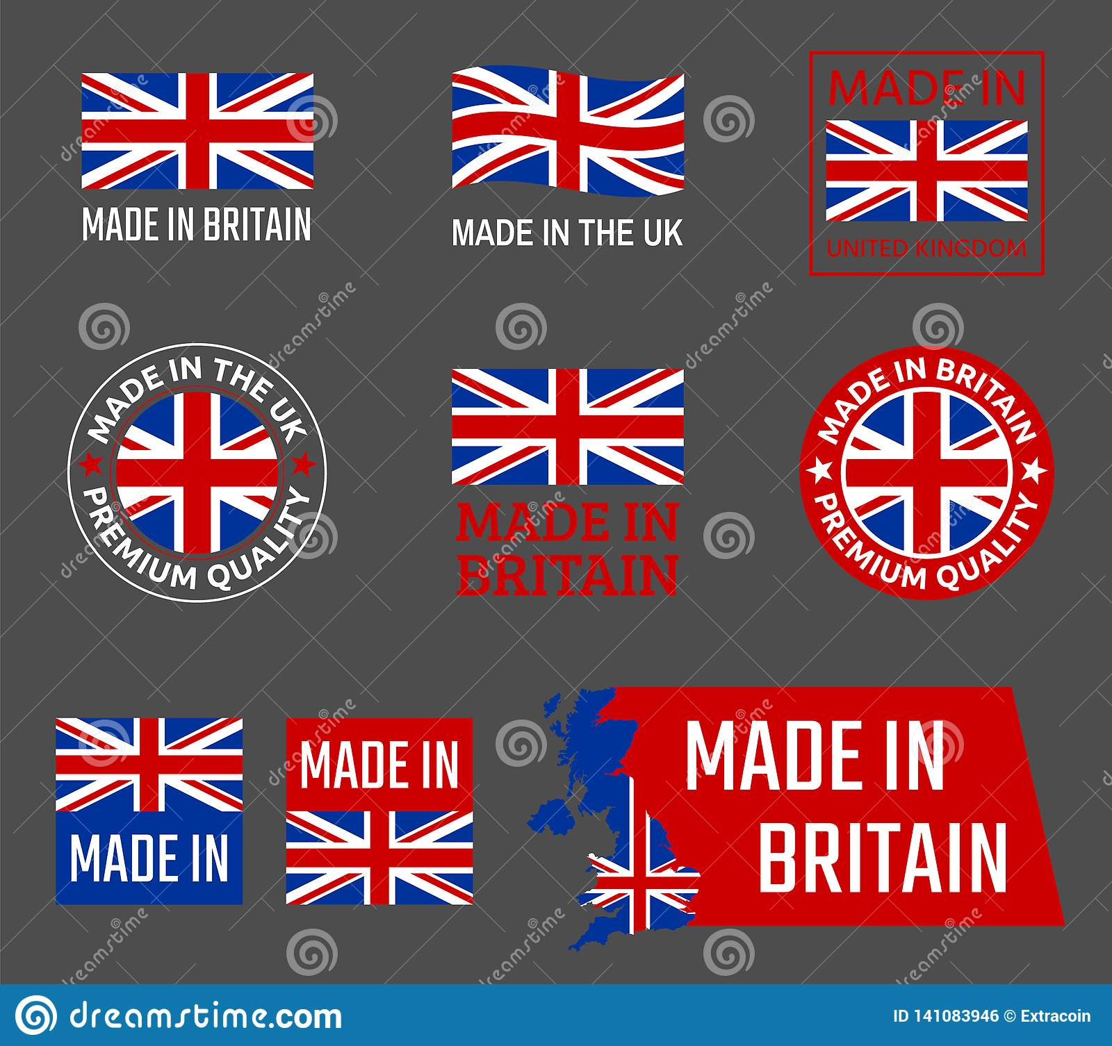 Made in great britain, United Kingdom product emblem