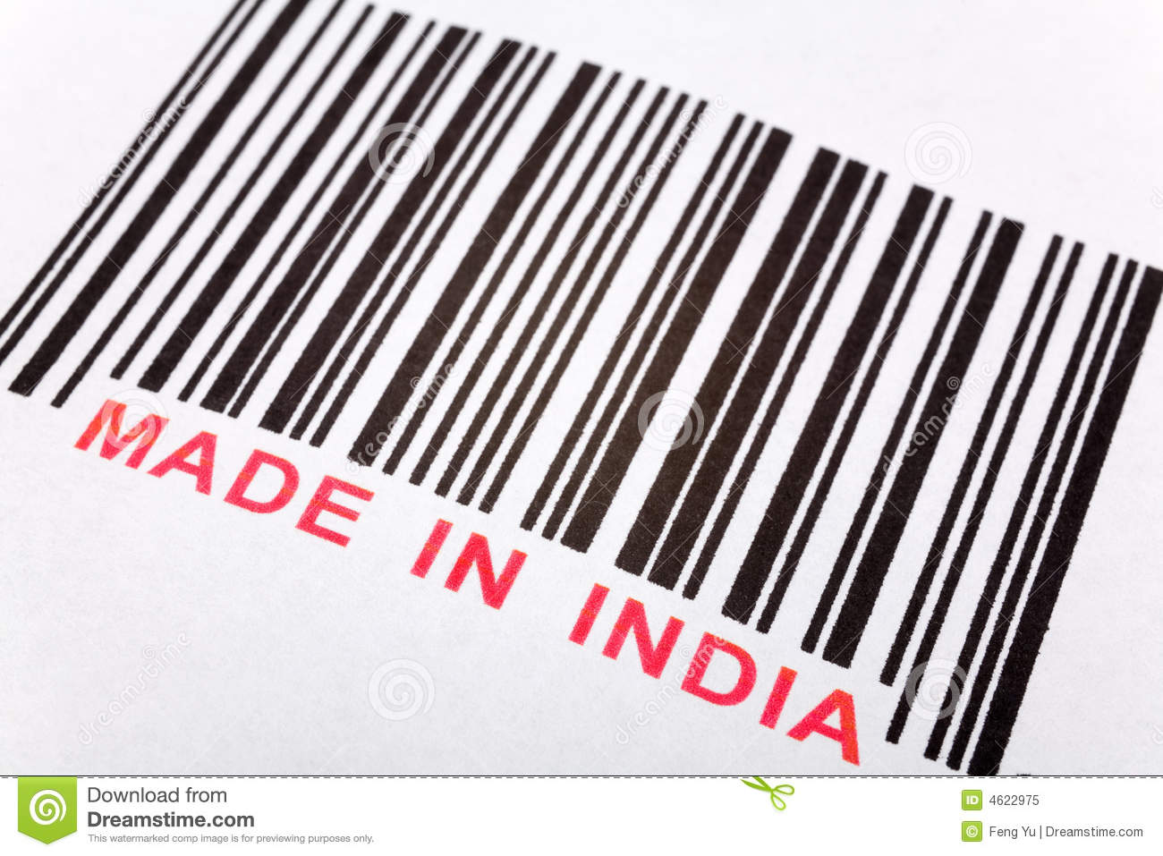 made in india stock image image of factory barcode india 4622975. Black Bedroom Furniture Sets. Home Design Ideas