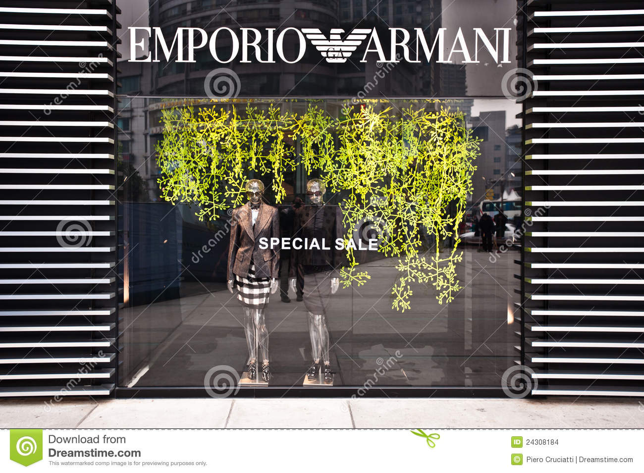 CHONGQING, CHINA - JAN 22: Emporio Armani boutique in Chongqing on