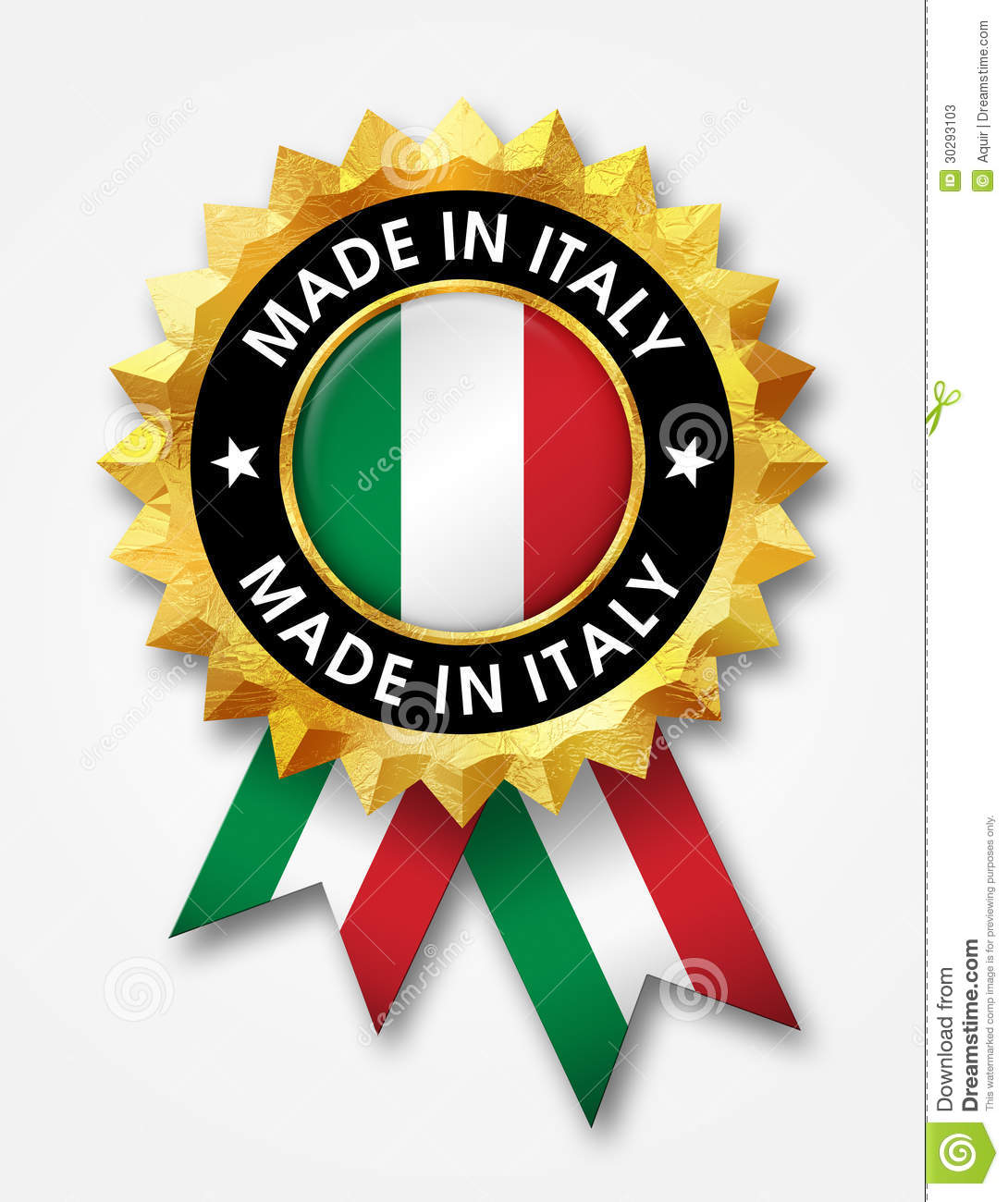 Made in italy badge stock photos image 30293103 for Made com italia