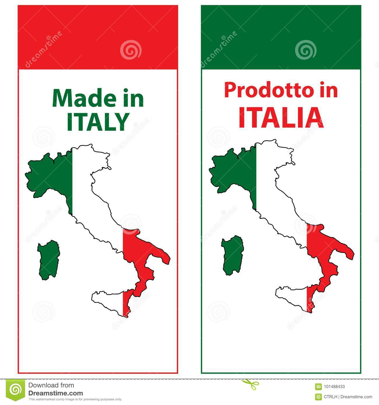 picture about Printable Italy Flag known as Generated Inside Italy, Printable Sticker Preset Inventory Case in point