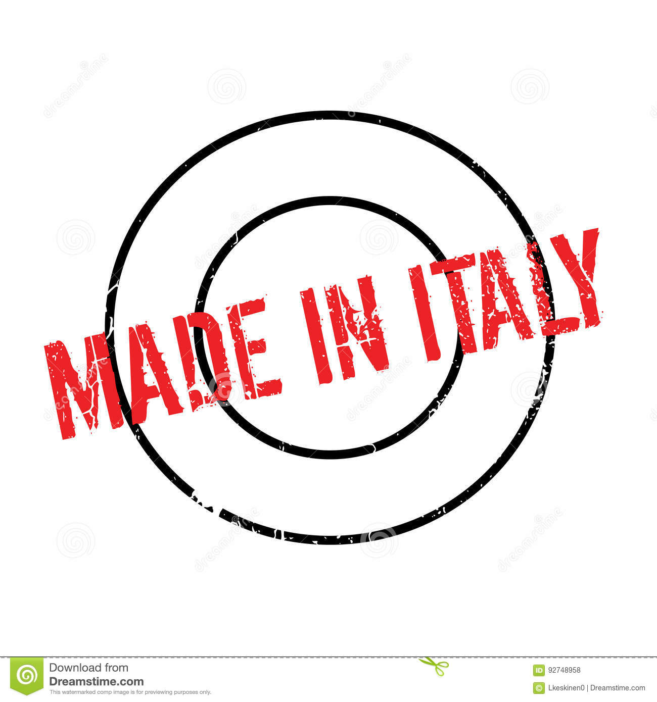 Made In Italy rubber stamp stock vector. Illustration of ...