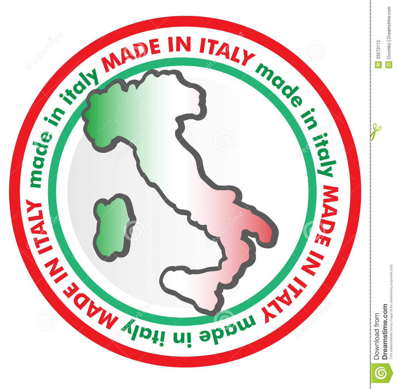 Made in italy symbol stock photography image 33573172 for Made com italia