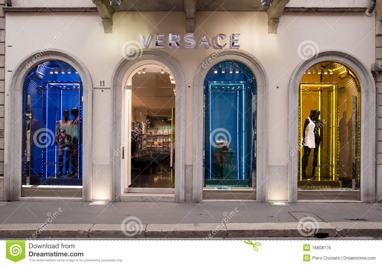 57dc272caf Versace boutique in Milan on October 8