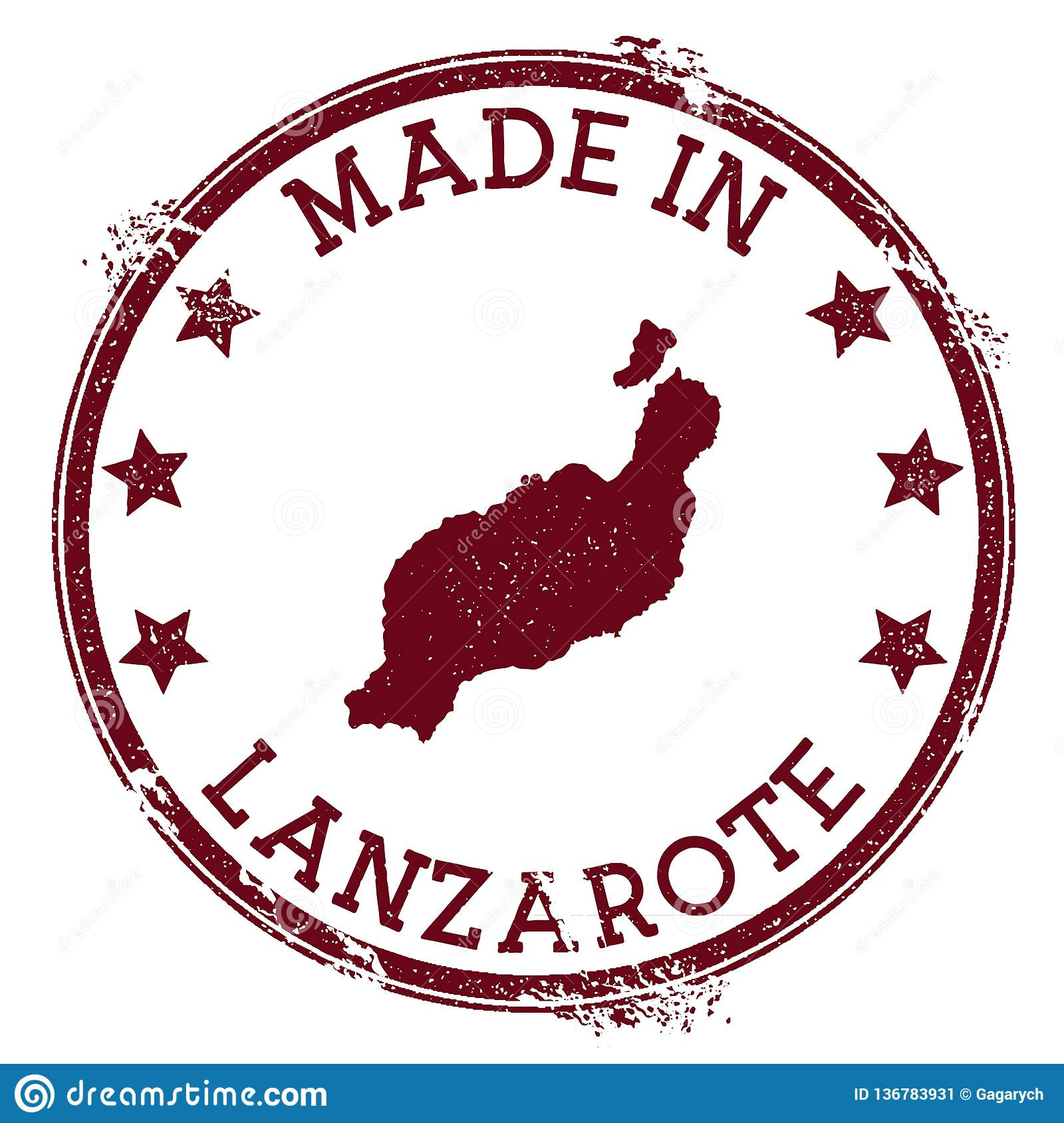 Made in Lanzarote stamp.
