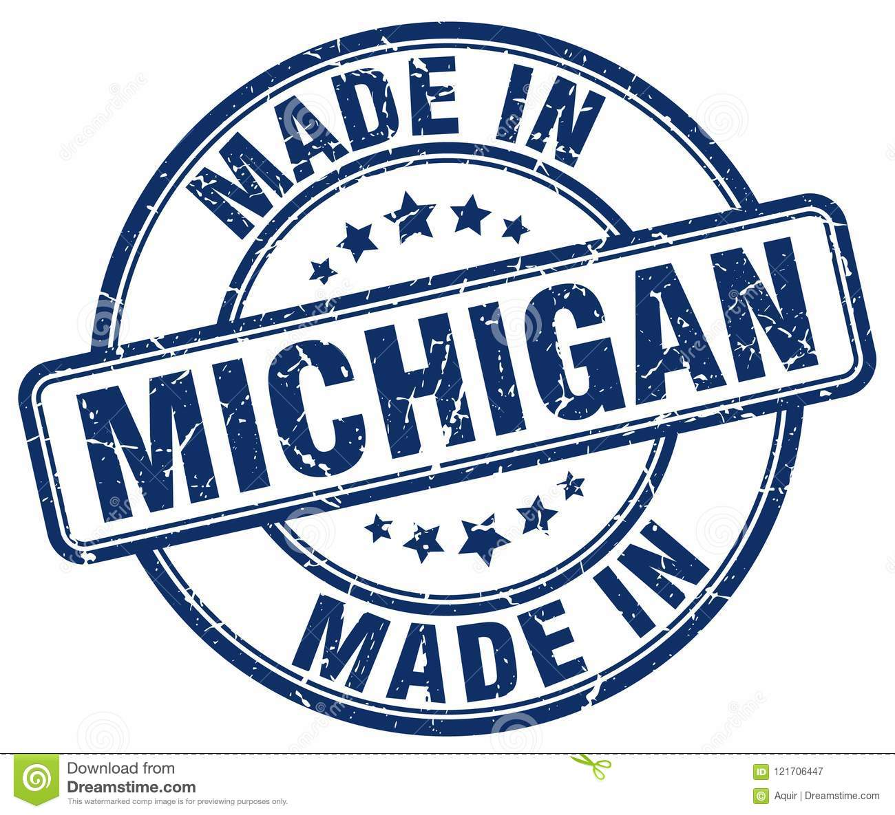 Made In Michigan >> Made In Michigan Stamp Stock Vector Illustration Of