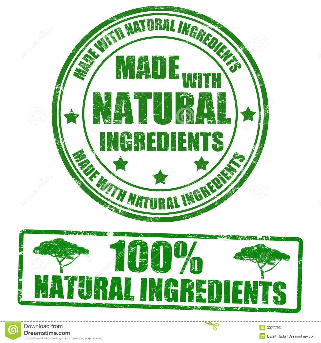 Made With Natural Ingredients Stamps Stock Vector ...
