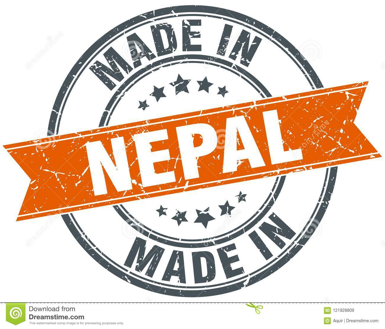 Made in Nepal stamp stock vector. Illustration of sign   8