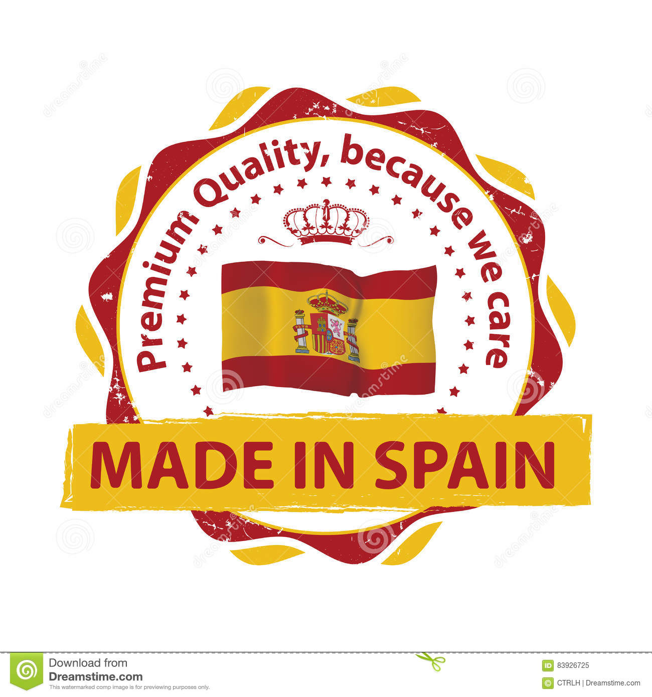 Made In Spain, Premium Quality Stamp Stock Vector - Illustration of