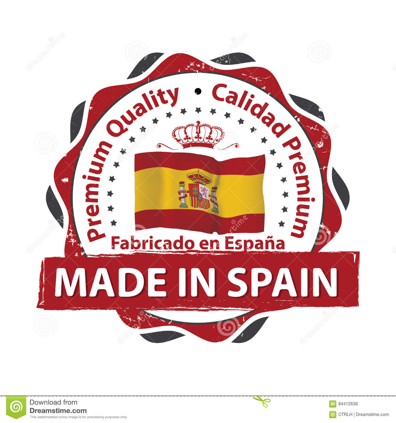 Made in Spain, Premium Quality Stock Vector   Illustration of ...