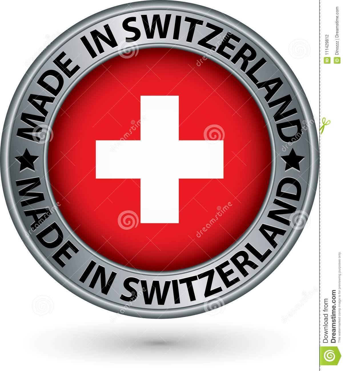 This is an image of Inventive Made in Switzerland Label