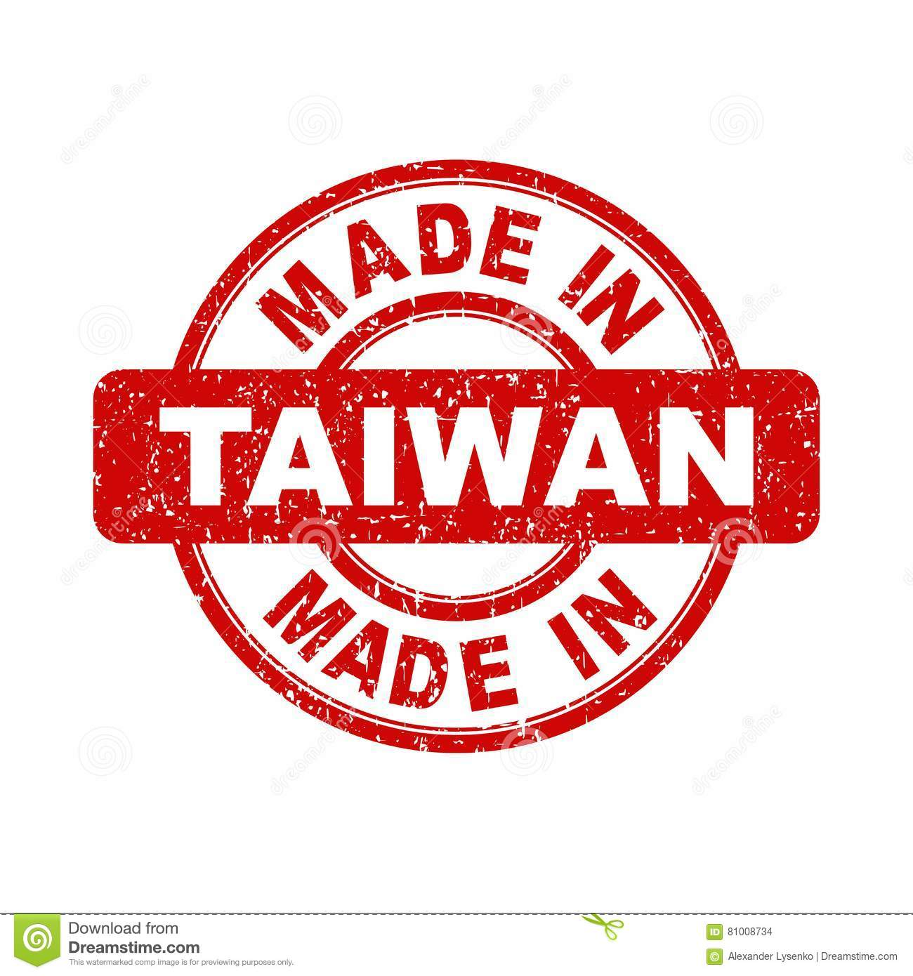 made in taiwan red stamp stock vector illustration of copyright 81008734. Black Bedroom Furniture Sets. Home Design Ideas