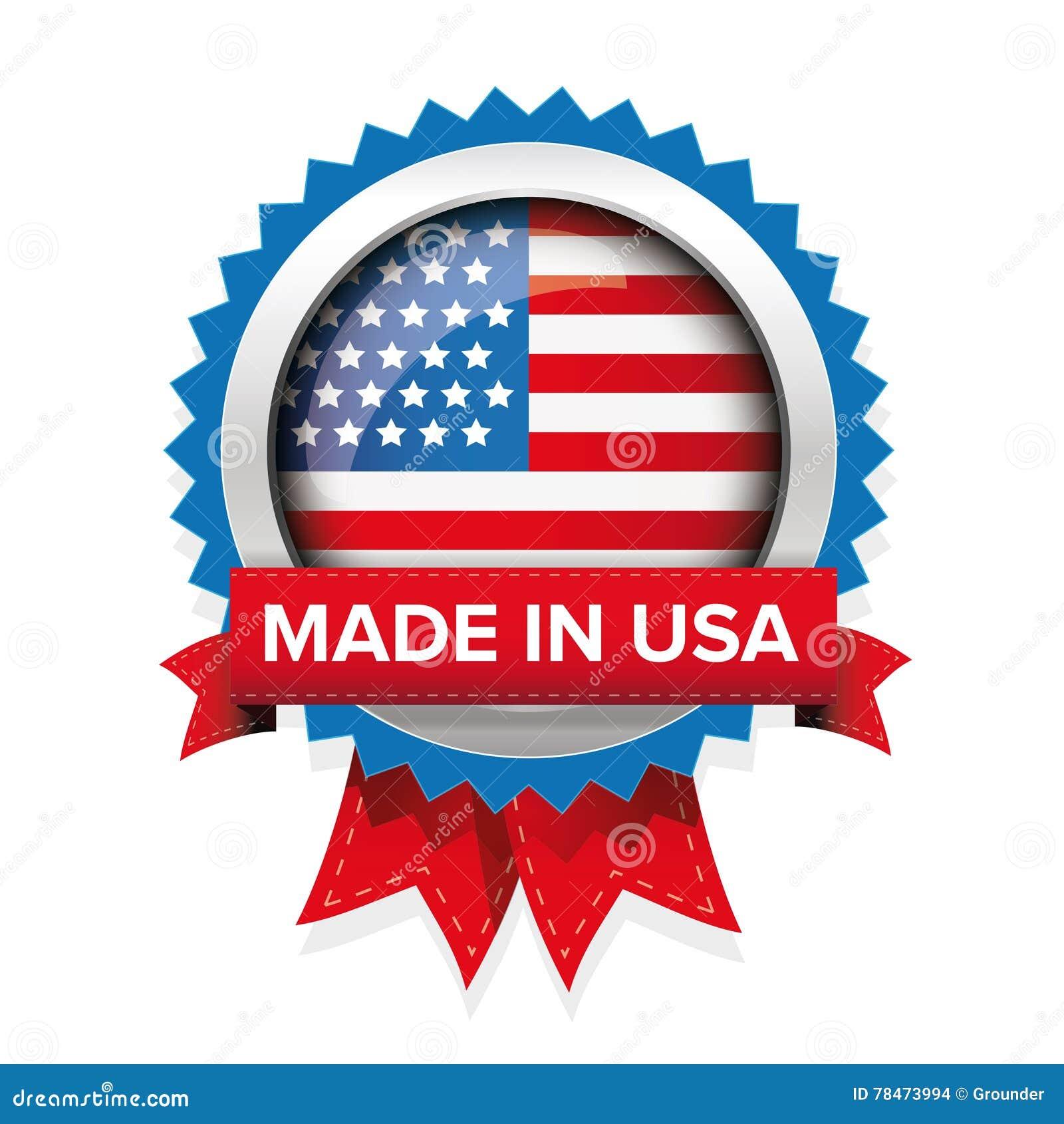 Made in usa badge vector stock vector illustration of design made in usa badge vector buycottarizona