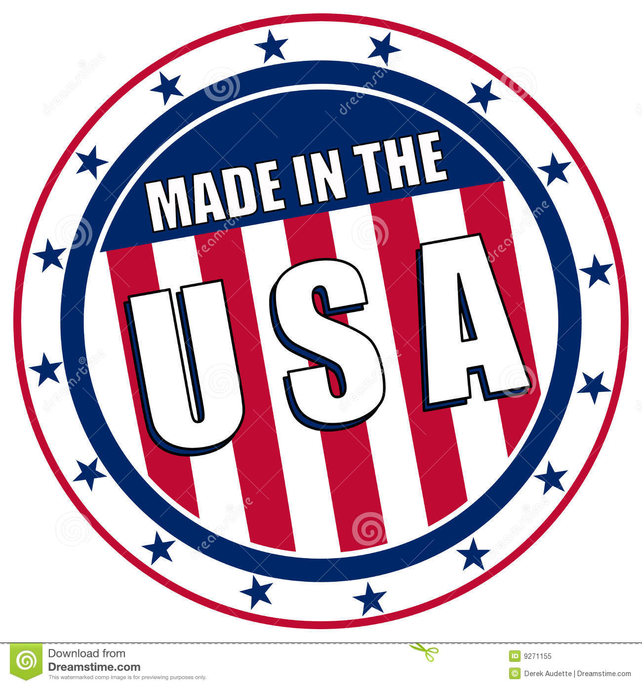Made In The Usa Decal Stock Vector Illustration Of