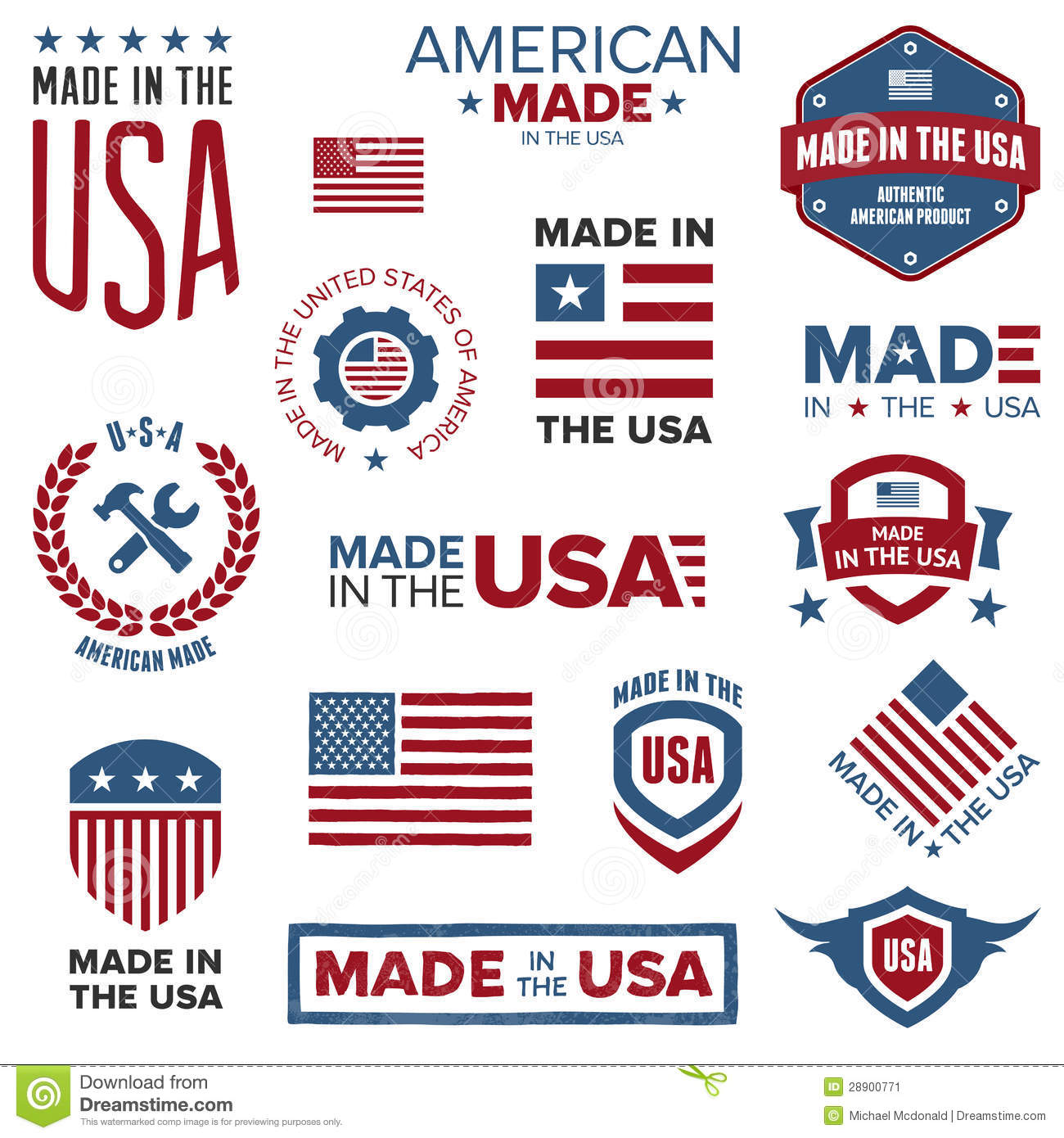 Made in the usa designs stock image image 28900771 for Made design