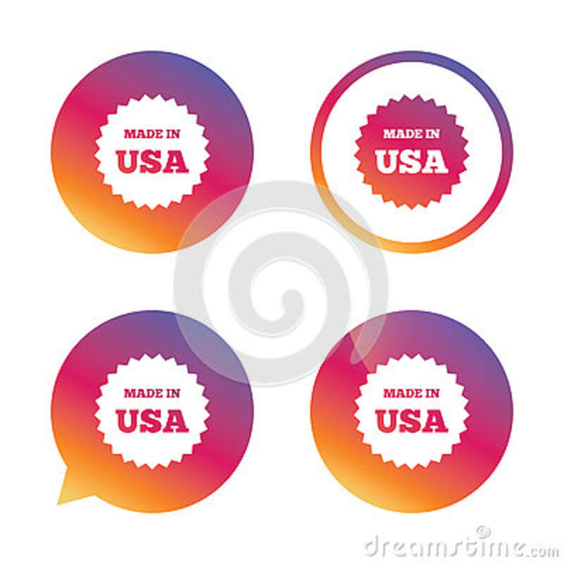 Made In The Usa Icon Export Production Symbol Stock Vector