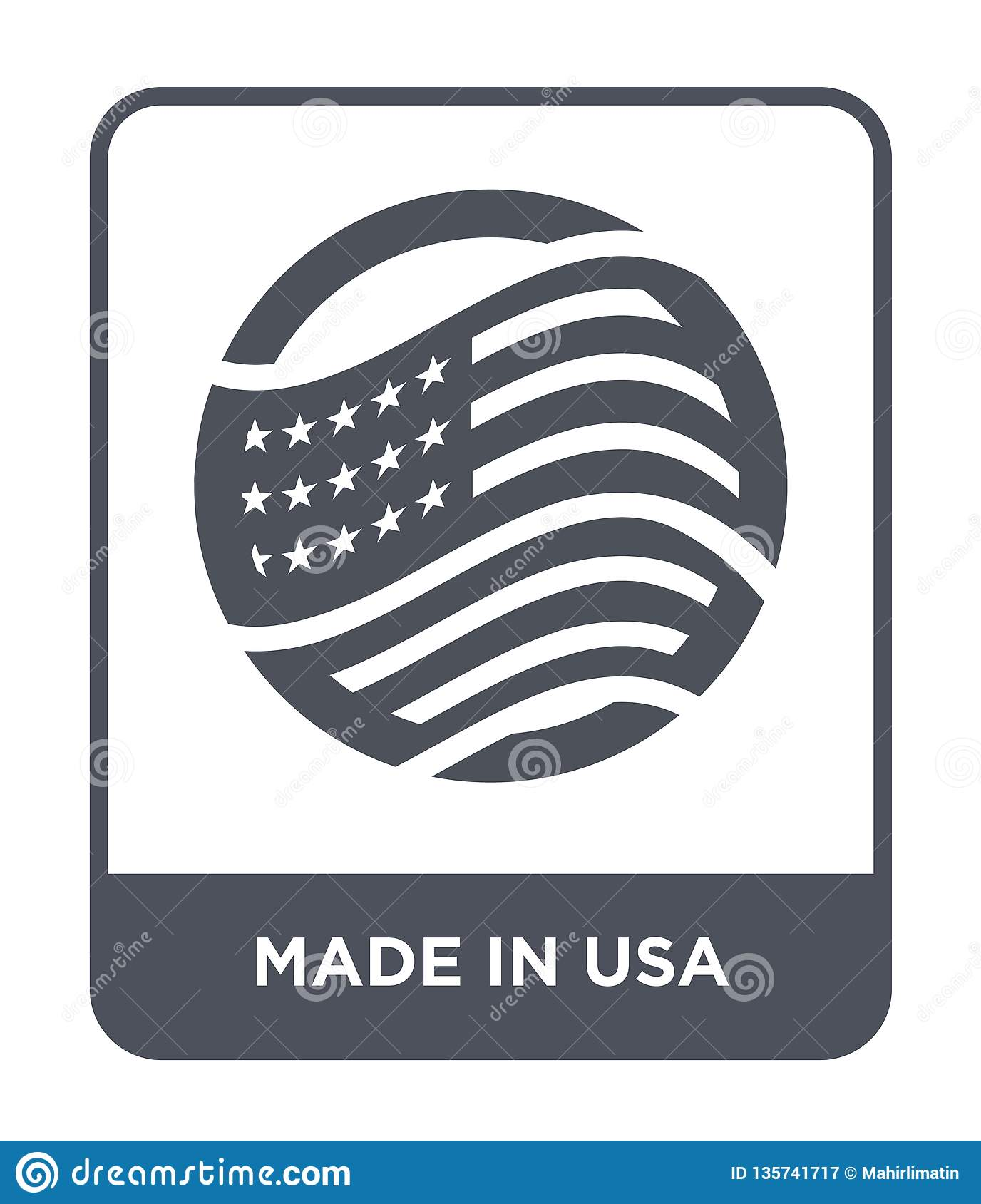 made in usa icon in trendy design style. made in usa icon isolated on white background. made in usa vector icon simple and modern