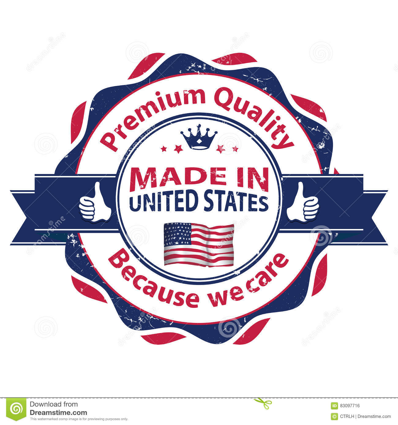 Made in usa premium quality because we care stock photo image made in usa premium quality because we care royalty free stock photo download made in usa buycottarizona