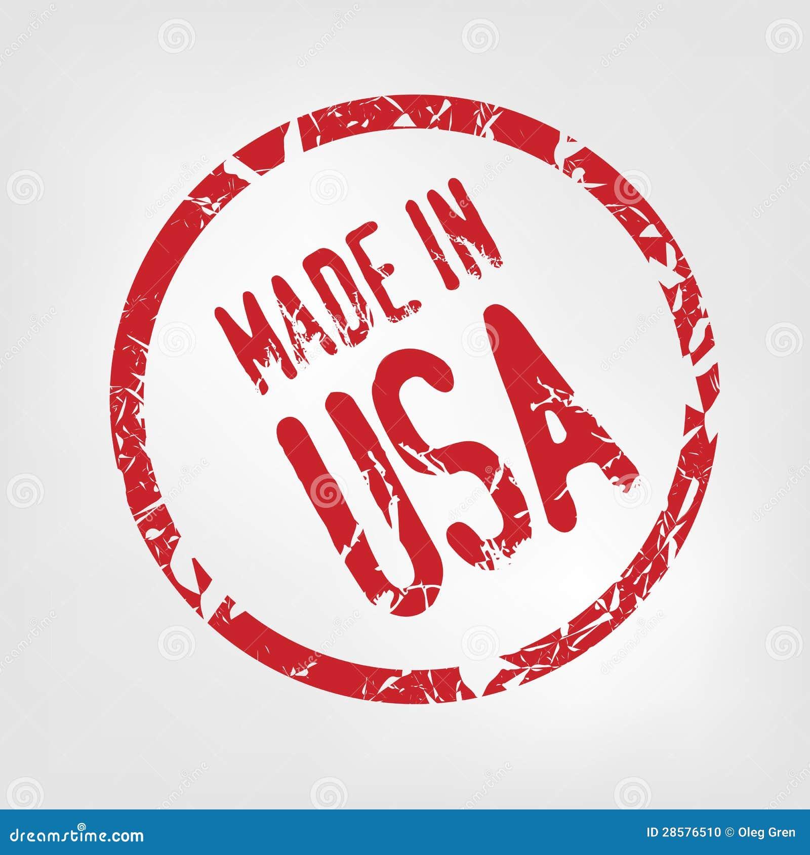 made in usa stamp stock vector illustration of america 28576510. Black Bedroom Furniture Sets. Home Design Ideas