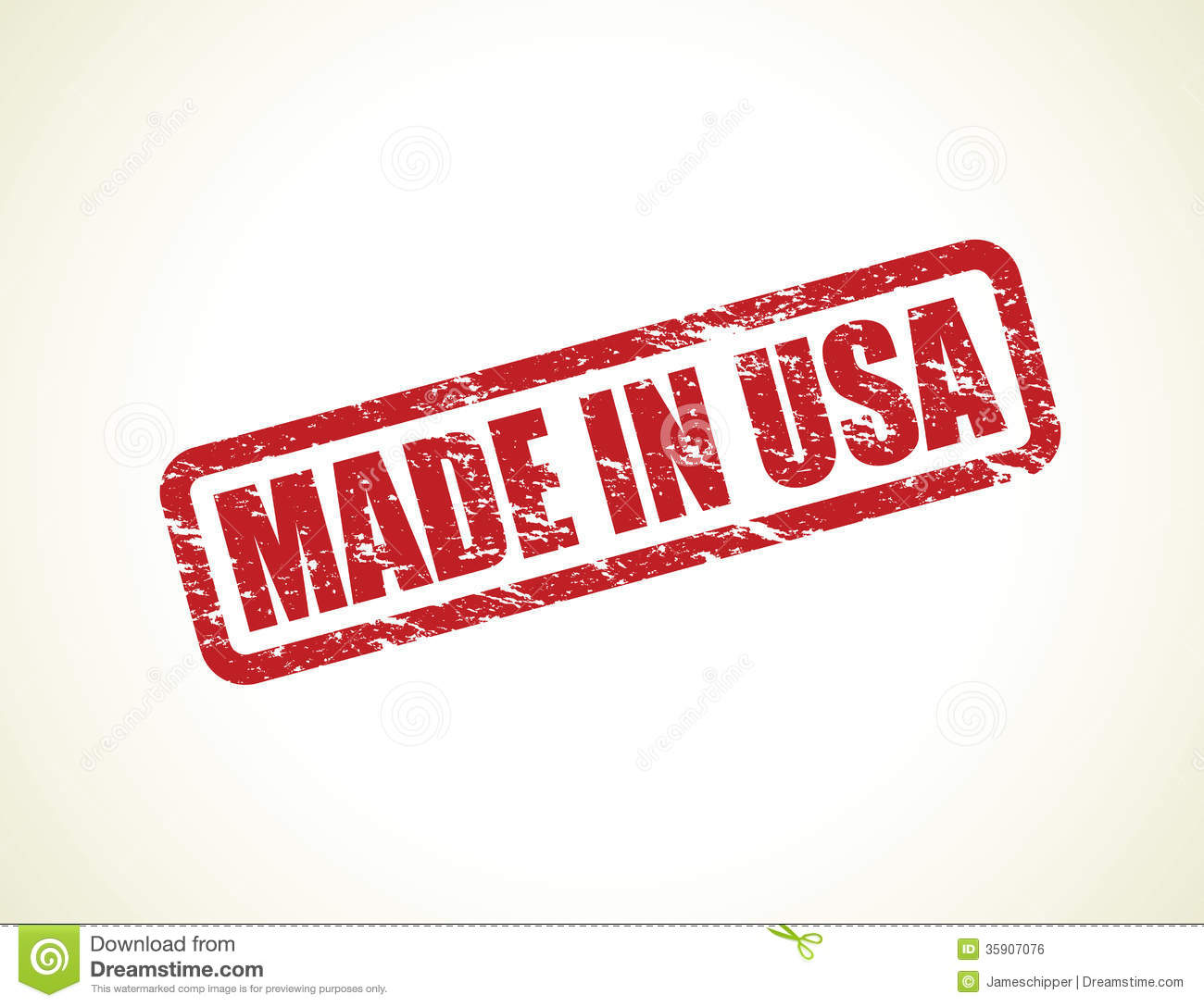 made in the usa stamp stock vector image of damaged 35907076. Black Bedroom Furniture Sets. Home Design Ideas