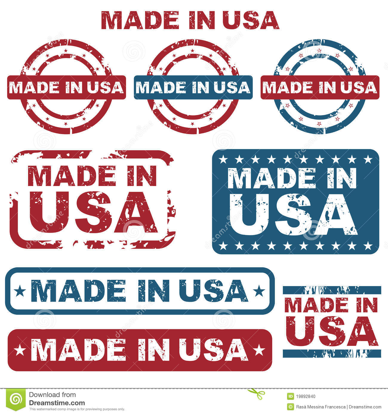 made in usa stamps stock photo image 19892840. Black Bedroom Furniture Sets. Home Design Ideas
