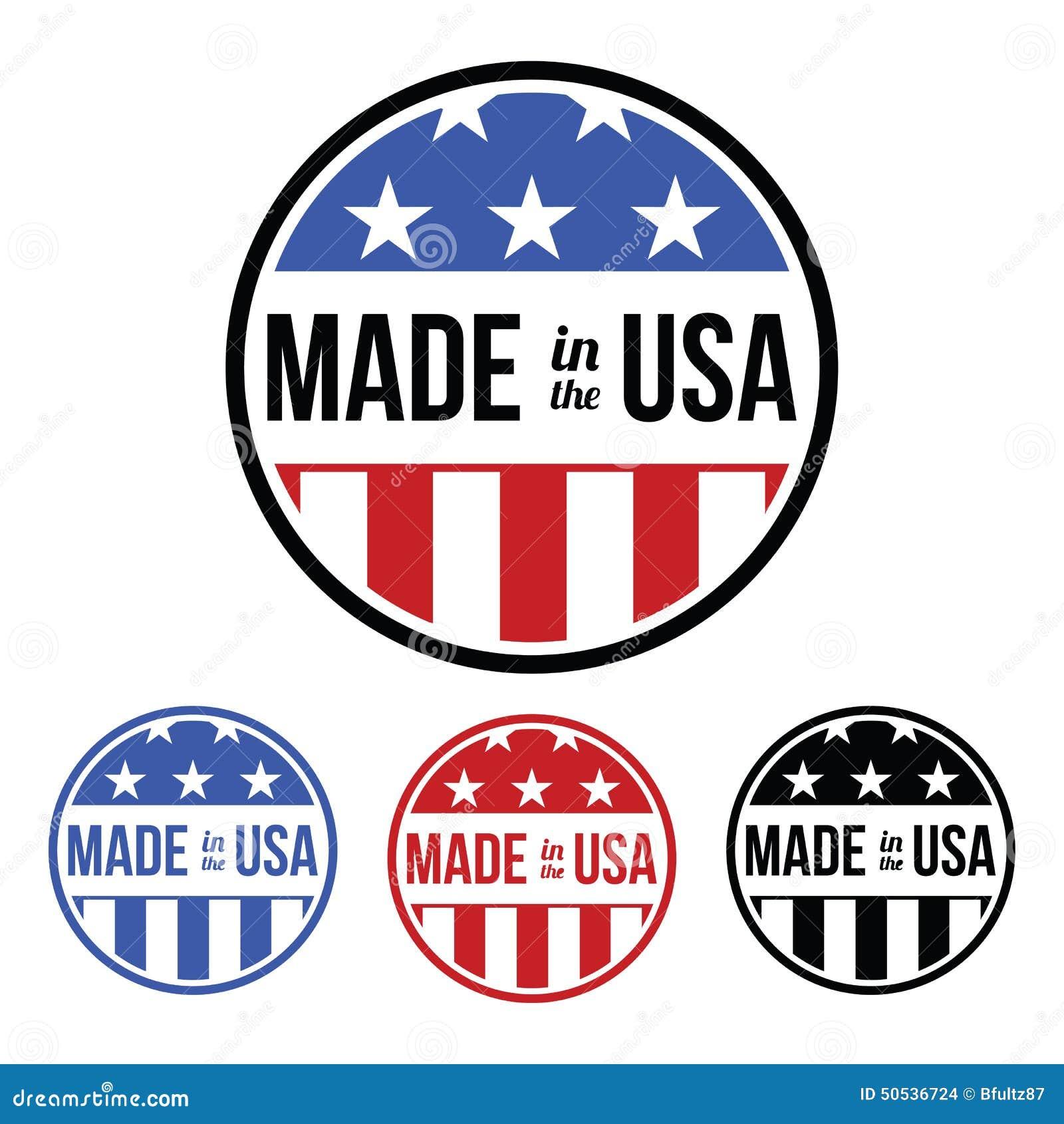 made in the usa symbol stock vector illustration of sticker 50536724. Black Bedroom Furniture Sets. Home Design Ideas