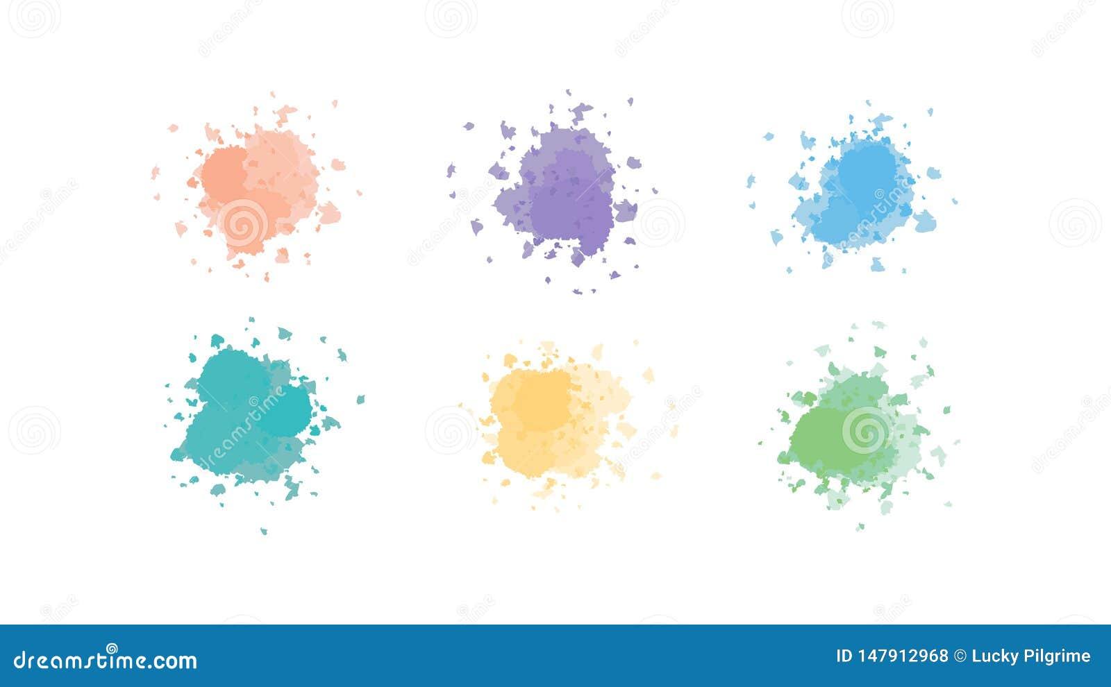 Vector of ink splat in colors